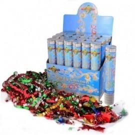 Cañon de confeti metalico multicolor 24 cm