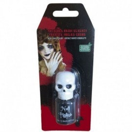 Pintauñas negro esqueleto para halloween