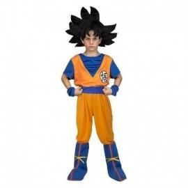 Disfraz Goku con peluca para niño original