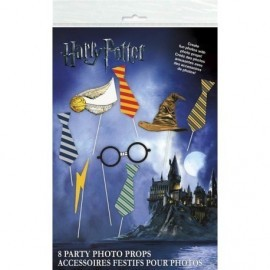 Accesorios Photocall Harry Potter palitos foto 8 uds