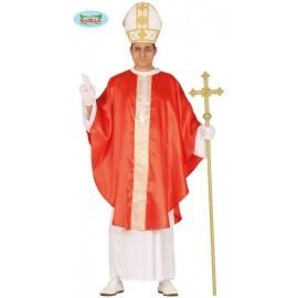 Disfraz de papa rojo para hombre talla L 52-54