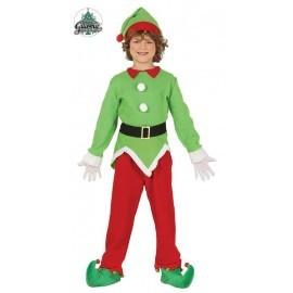 Disfraz de elfo verde y rojo niño navidad tallas