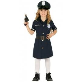 Disfraz policia nacional para niña vestido tallas