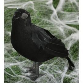 Cuervo negro de 23 cm para decoracion halloween