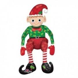Globo elfo sentado para navidad 43 x 73 cm para aire