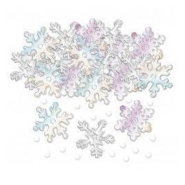 Confeti copos de nieve iridisentes 14 gr