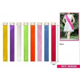 Banda de cumpleaños lisa colores surtidos 150x9 cm
