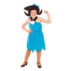 Disfraz barato niña troglodita azul Betty marmol tallas infantil