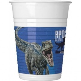 Vasos Jurasic World 2 dinosaurios 8 uds