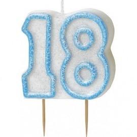 Vela Azul numero 18 cumpleaños