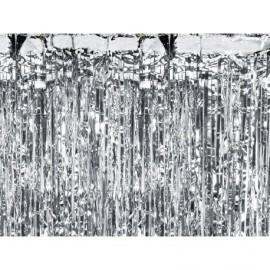 Cortina de fiesta plata 90x250 cm