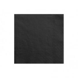 Servilletas negras 20 uds de 33x33 cm 3 capas