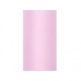 Tul rosa claro rollo de 9 mt x 50 cm para decoraciones
