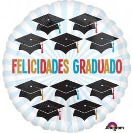 Globo barato Felicidades Graduado 45 cm helio o aire