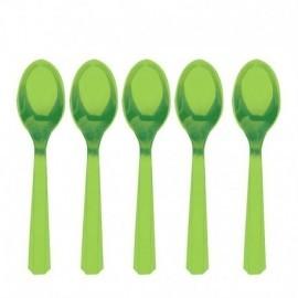 Cucharillas Verdes de plastico 10 unidades