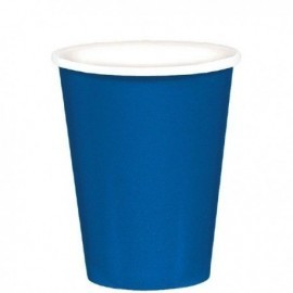 Vasos Azul royal de carton 8 unidades 266 ml