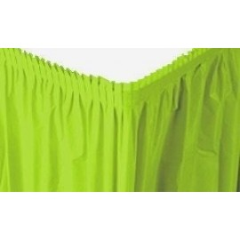 Faldon de mesa Verde pastel de 73 x 426 cm para mantel