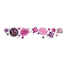 Confeti 18 cumpleaños tonos rosa 34g