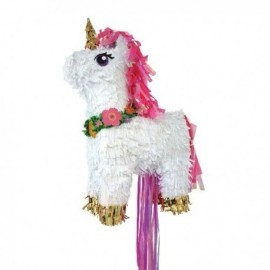 Piñata Unicornio 3d romper o tirar 32cm x 46cm