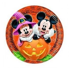 Platos Mickey Mouse Halloween 8 uds 23 cm