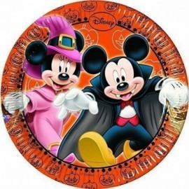 Platos Mickey Mouse Halloween 8 uds 20 cm