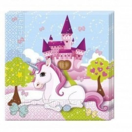 Servilletas unicornio cumpleaños 20 uds