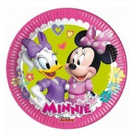 Platos Minnie Mouse rosa 8 uds 20 cm cumpleaños