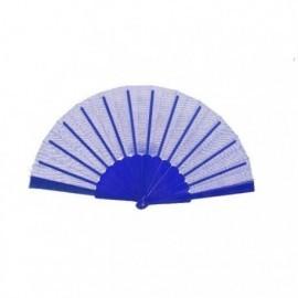 Abanico azul 23 cm