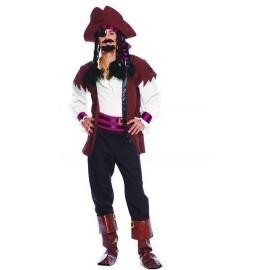 Disfraz de pirata de los siete mares hombre adulto