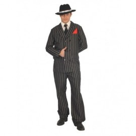 Disfraz de gangster negro raya blanca fina 80231 gui