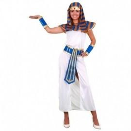 Disfraz de faraona blanco mujer egipcia talla m-l