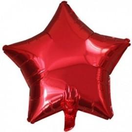 Globo estrella rojo foil para helio