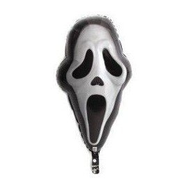 Globo cara mascara fantasma scream 41x71