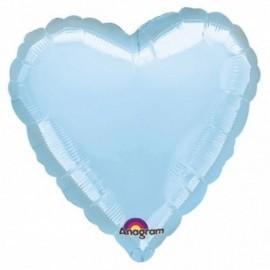 Globo corazon azul pastel foil 18 45 cm