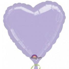 Globo corazon lila foil 18 45 cm helio