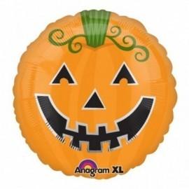 Globo calabaza foil halloween naranja