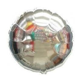 Globo circulo plata 18 45 cm helio