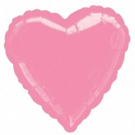 Globo corazon rosa foil helio 18 45 cm