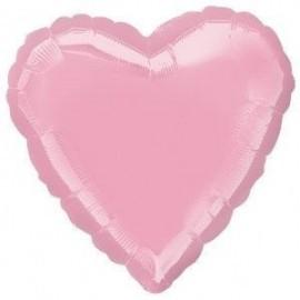 Globo corazon perlado rosa 18 45 cm helio o aire