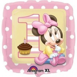 Globo minnie mouse bebe 1ª cumpleaños foil helio
