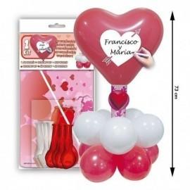 Kit de globos enamorados corazon centro de mesa