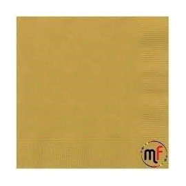 Servilleta oro papel 20 unidades 33 x 33 cm