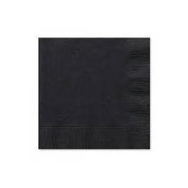 Servilletas negras 33x33 cm 20 unidades