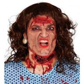 Cicatriz garganta cortada efectos halloween