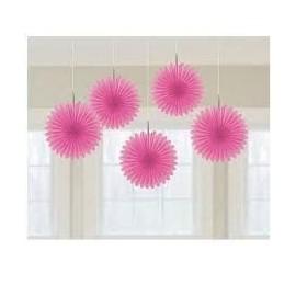 Decoracion colgantes flores rosas 5 unidades