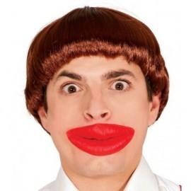Labios rojos gigantes grandes de latex labion