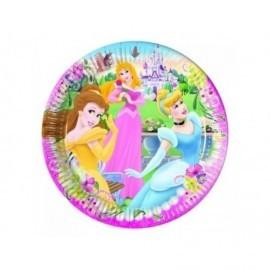 Platos princesas 20 cm 10 unidades
