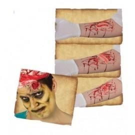 Cicatrices surtidas con adhesivo