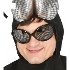 Gafas mosca hexagonales negras