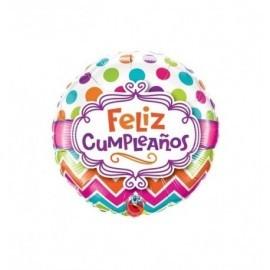 Globo feliz cumpleaños 18 45 cm foil para helio